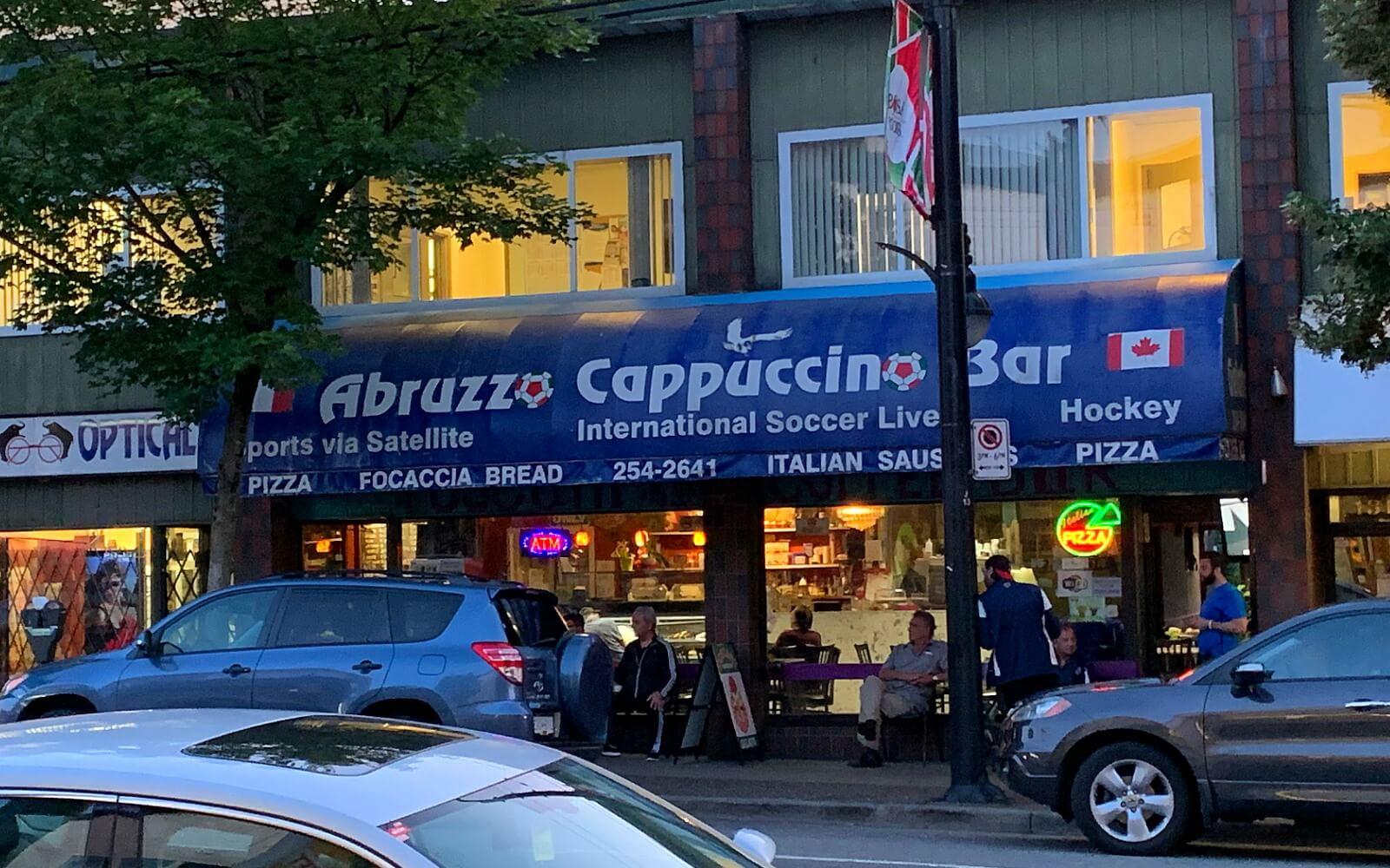 abruzzo cappuccino bar on commercial drive vancouver bc