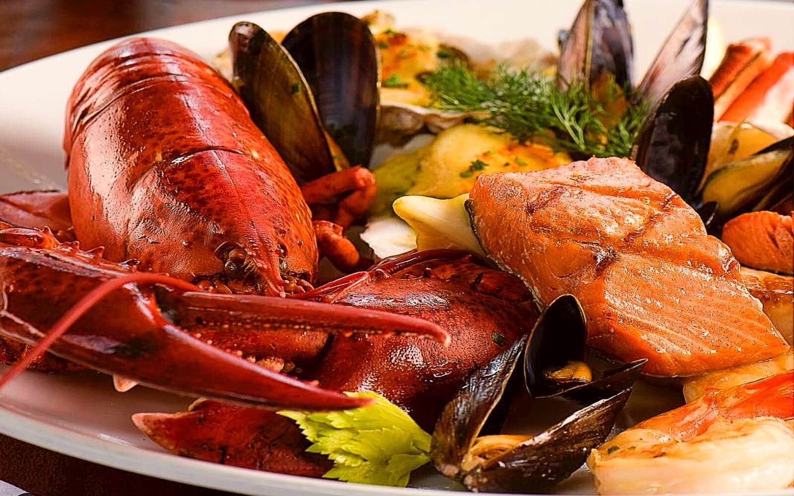 A seafood platter at Joe Fortes, Vancouver