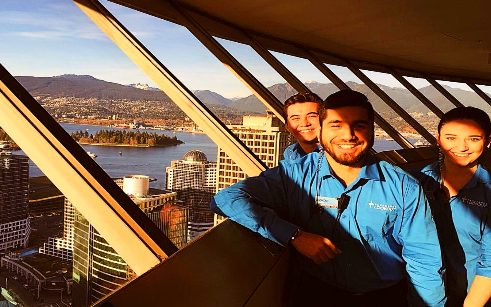 Tour guides at Vancouver Lookout